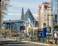 Лейпциг, Саксония, Германия - 21-ое октября 2017: Взгляд к восстановленное стоковое изображение