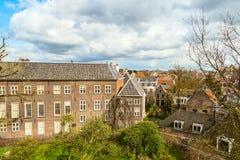 Лейден, Голландия, вид с воздуха Стоковое фото RF
