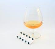 Лекарства и спирт Стоковые Изображения