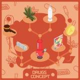 Лекарства красят равновеликую концепцию иллюстрация штока