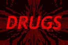 Лекарства слова на разрушенной предпосылке Стоковое Изображение RF