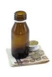 Лекарство деньги Стоковые Изображения
