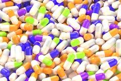 Лекарство capsules крупный план иллюстрация вектора