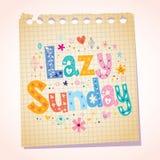 Ленивое воскресенье иллюстрация штока