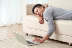 ленивый человек стоковое фото rf