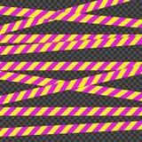 Лента баррикады Для опасностей радиации Свяжите тесьмой для предупредите или уловите внимание Лента содержа возможную опасность иллюстрация вектора
