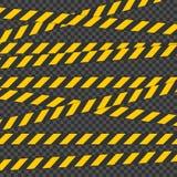Лента баррикады Для физических опасностей Свяжите тесьмой для предупредите или уловите внимание Лента содержа возможную опасность бесплатная иллюстрация