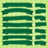 Лента вектора зеленая Стоковое Изображение RF