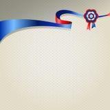 Лента голубого красного цвета silk наградная иллюстрация штока