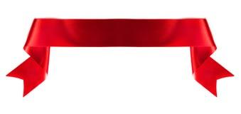 Лента знамени на белизне Стоковое Изображение RF
