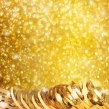 Лента золота бумажная горизонтальная Стоковые Фото
