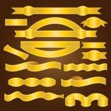 Лента золота - иллюстрация Стоковое Фото