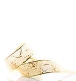 Лента золота рождественской открытки Стоковые Фотографии RF