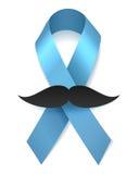 Лента здоровья человека голубая с усиком Стоковые Фотографии RF