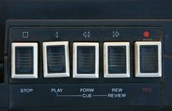 лента игры кнопок grungy Стоковое Изображение RF