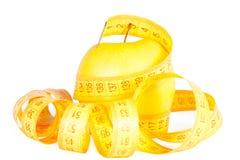лента измерений яблока Стоковые Фото