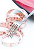 лента измерения вилки стоковые фотографии rf