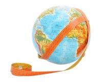 лента измерения глобуса Стоковые Фотографии RF