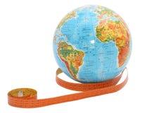 лента измерения глобуса Стоковое фото RF