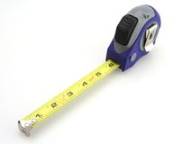 лента измерения голубого серого цвета Стоковое Изображение