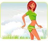 лента измерения девушки Стоковое Изображение