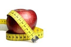 лента измерения диетпитания яблока Стоковые Изображения RF