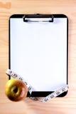 лента измерения яблока Стоковое Изображение RF