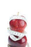 лента измерения яблока Стоковая Фотография
