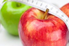 лента измерения яблока Стоковое Изображение