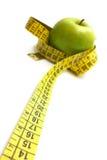 лента измерения яблока Стоковое фото RF