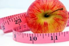 лента измерения 2 яблок Стоковые Фото