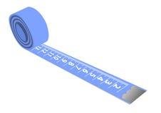 лента изолированная синью измеряя Стоковые Изображения