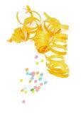 Лента и Confetti партии Стоковое Изображение