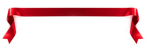 Лента красного цвета ткани стоковые изображения rf