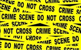 Лента места преступления иллюстрация штока