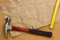 лента молотка измеряя Стоковые Фото
