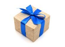 Лента обернутая подарком голубая Стоковые Изображения