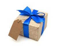 Лента обернутая подарком голубая Стоковая Фотография RF