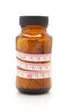 лента пилек измерения диетпитания бутылки стеклянная стоковое изображение rf