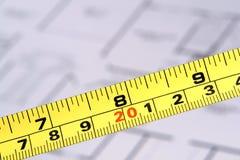 лента планов измерения пола конструкции Стоковая Фотография