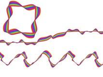 Лента радуги конспекта искусства цифров пропуская Стоковое фото RF