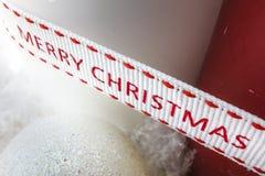 Лента рождества с свечами стоковые фотографии rf