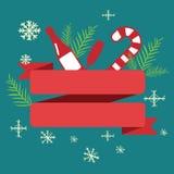 Лента рождества для текста Стоковые Изображения