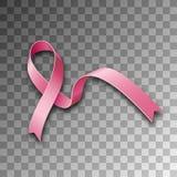 Лента символа розовая, осведомленность рака молочной железы бесплатная иллюстрация