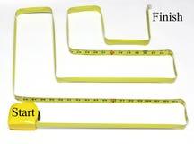 лента старта лабиринта отделки измеряя к Стоковая Фотография