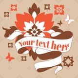 Лента с цветками Стоковая Фотография