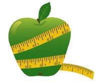 лента яблока измеряя иллюстрация вектора