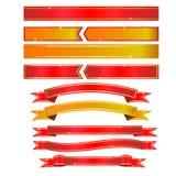Ленты золота - иллюстрация Стоковые Фото