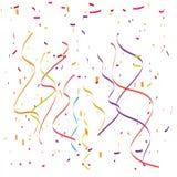 ленты иллюстрации confetti падая Стоковое Изображение
