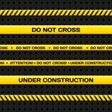 Ленты линии и опасности полиции Реалистическая иллюстрация вектора бесплатная иллюстрация